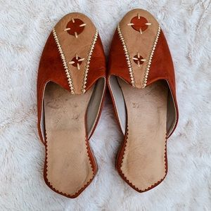 Babouches Orange Flats Moroccan Slipper Shoe